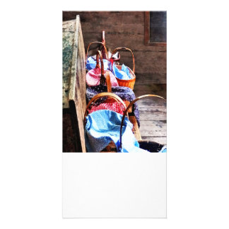 Lunch Basket in One Room Schoolhouse Customized Photo Card
