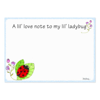 Lunch box love note pack of chubby business cards