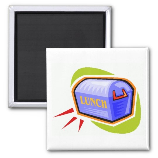 Lunch Box Square Magnet