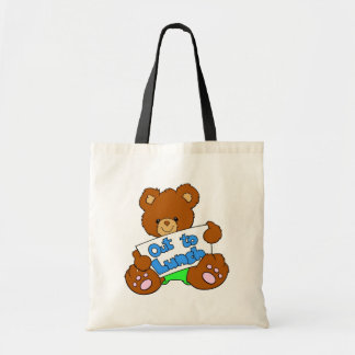 Lunch Break Teddy Bear Tote Bag