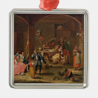 Lunch in the Country (oil on canvas) Christmas Ornament