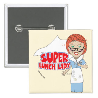 Lunch Lady 15 Cm Square Badge