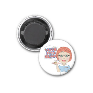 Lunch Lady 3 Cm Round Magnet