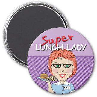Lunch Lady 7.5 Cm Round Magnet