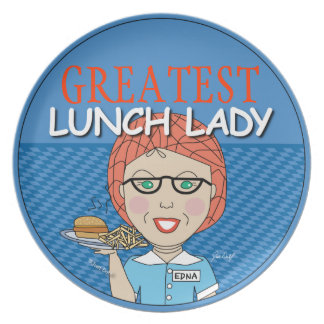Lunch Lady Award - Customizable Dinner Plates
