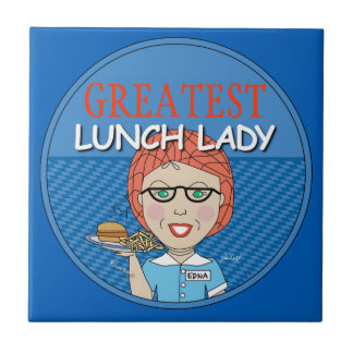 Lunch Lady - Customise Small Square Tile