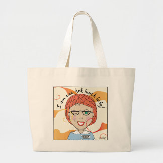 Lunch Lady - I'm One Hot Lunch Lady Large Tote Bag