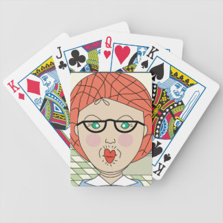 Lunch Lady Love Bicycle Poker Cards