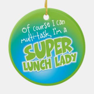 Lunch Lady Round Ceramic Decoration