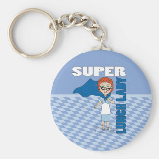 Lunch Lady - Super Lunch Lady Basic Round Button Key Ring