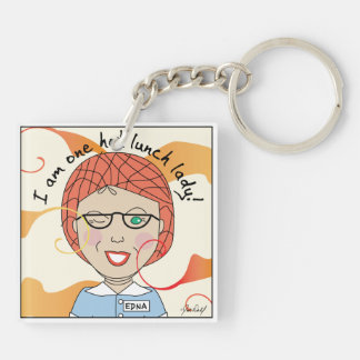 Lunch Lady - Super Lunch Lady Double-Sided Square Acrylic Key Ring