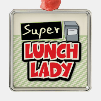 Lunch Lady - Super Lunch Lady Silver-Colored Square Decoration