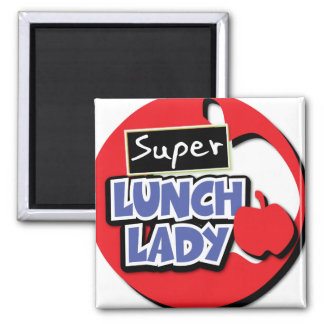 Lunch Lady - Super Lunch Lady Square Magnet