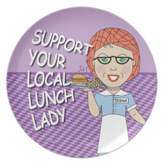 Lunch Lady Support Party Plates