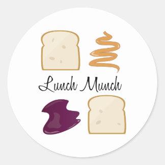 Lunch Munch Round Sticker