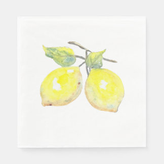 Lunch Napkins with Lemon Design Disposable Serviette