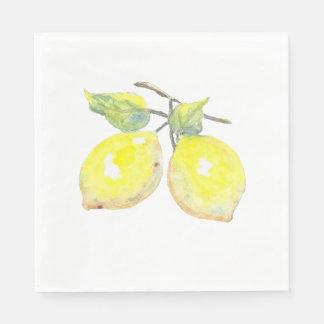 Lunch Napkins with Lemon Design Paper Napkin