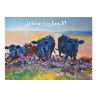 Lunch on Dartmoor - Landscape painting 13 Cm X 18 Cm Invitation Card