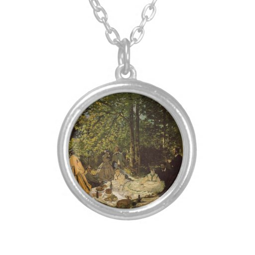 Lunch on grass custom necklace