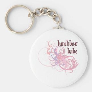 Lunchbox Babe Basic Round Button Key Ring