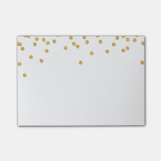 LUNCHBOX LOVE NOTE modern confetti glitter gold Post-it® Notes