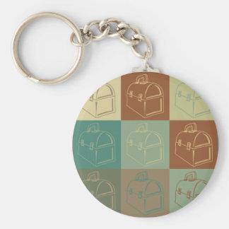 Lunchbox Pop Art Basic Round Button Key Ring