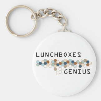 Lunchboxes Genius Basic Round Button Key Ring