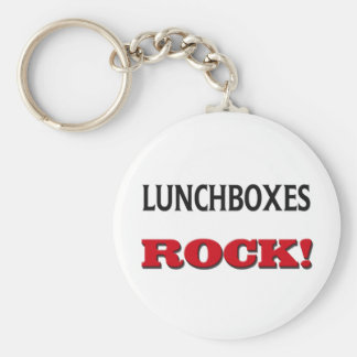 Lunchboxes Rock Basic Round Button Key Ring