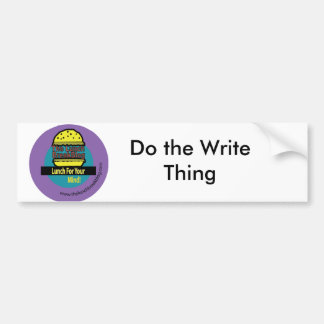 lunchbreakbloglogo, Do the Write Thing Car Bumper Sticker