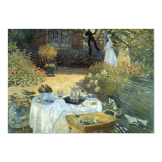 Luncheon by Claude Monet, Vintage Impressionism Card