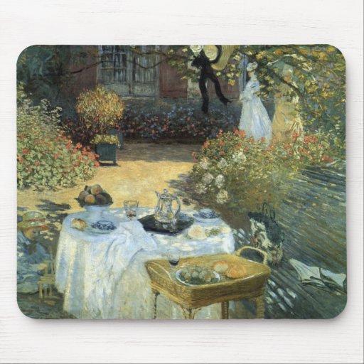 Luncheon by Claude Monet, Vintage Impressionism Mousepads