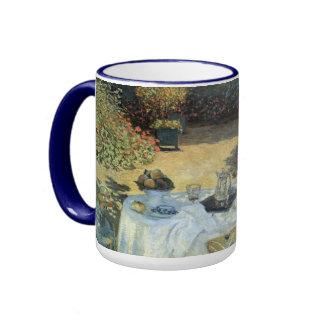 Luncheon by Claude Monet, Vintage Impressionism Ringer Mug