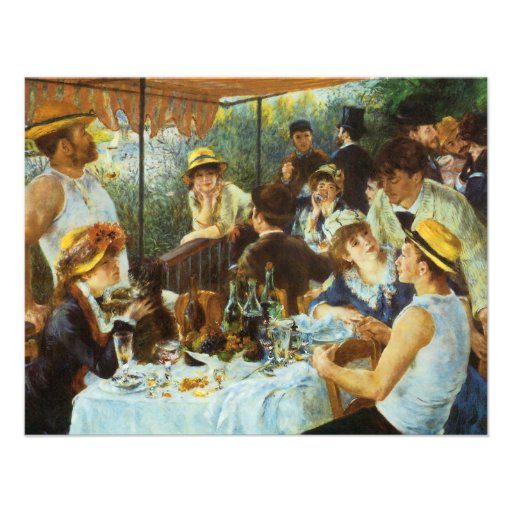 Luncheon of the Boating Party by Pierre Renoir Personalized Announcements
