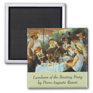 Luncheon of the Boating Party by Pierre Renoir Magnet