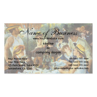 Luncheon of the Boating Party by Pierre Renoir Pack Of Standard Business Cards