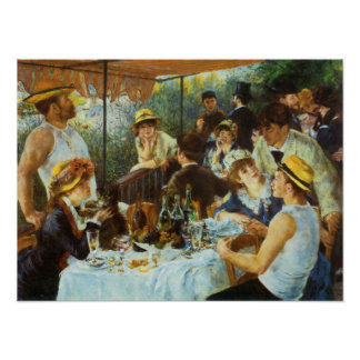 Luncheon of the Boating Party by Pierre Renoir Poster