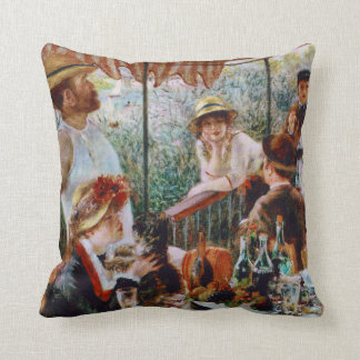 Luncheon of the Boating Party by Renoir Cushion