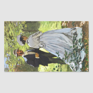 Luncheon on the Grass Claude Monet Rectangle Stickers