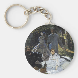 Lunchtime on the Grass Basic Round Button Key Ring