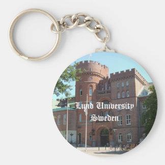 Lund University Castle Basic Round Button Key Ring
