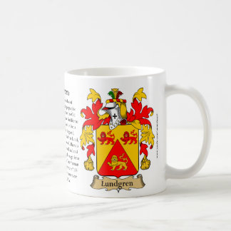 Lundgren, the Origin, the Meaning and the Crest Coffee Mug