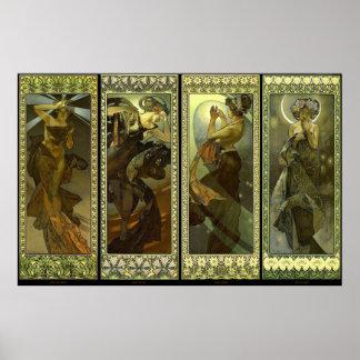 Lune et Etoiles 1902 Poster