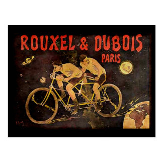 Lunel Vintage Tandem Cycling Cyclists Cycle Post Card