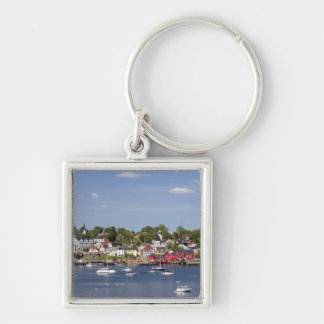 Lunenberg, Nova Scotia, Canada. 2 Silver-Colored Square Key Ring