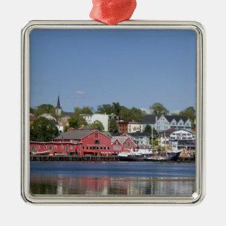 Lunenberg, Nova Scotia, Canada. 4 Silver-Colored Square Decoration