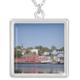 Lunenberg, Nova Scotia, Canada. 4 Silver Plated Necklace