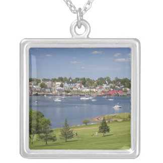 Lunenberg, Nova Scotia, Canada. Silver Plated Necklace
