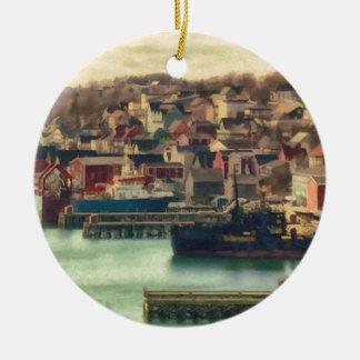 Lunenburg Nova Scotia by Shawna Mac Christmas Ornament