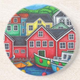 Lunenburg, NS Coasters by Lisa Lorenz