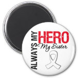 Lung  & Bone Cancer - Always My Hero My Sister Refrigerator Magnet